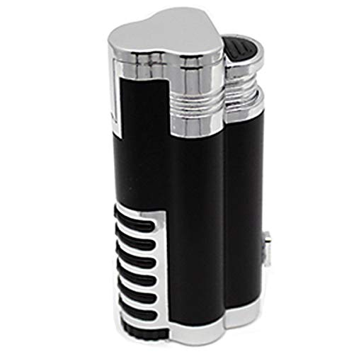 Prestige Import Group - The Cyclone Triple Torch Cigar Lighter w/Cutter- Color Chrome with Black