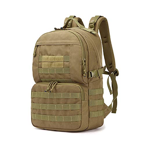 BAIGIO Tactical Backpack Army 3 Day Assault Pack Hiking Out Bag Rucksack for Outdoor Sport Travel Hiking Camping (Brown)