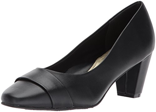 (Soft Style by Hush Puppies Women's Mabry Dress Pump, Black Kid, 9.5 W US)