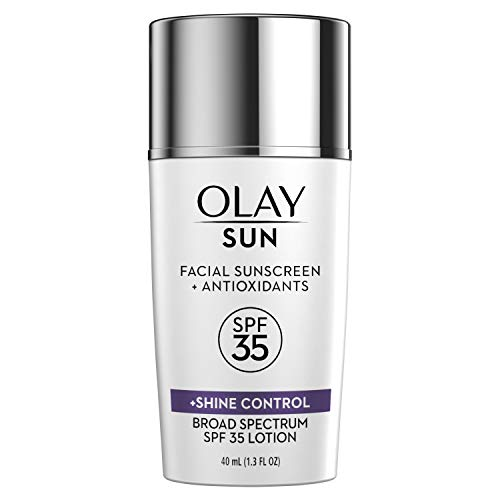 (Sunscreen by Olay, SPF 35 Face Lotion + Shine Control, 1.3 Fl Oz)