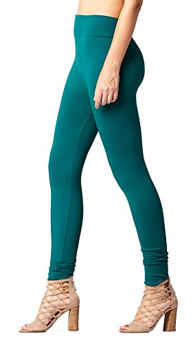 Conceited Fleece Lined Leggings for Women - LFL Hunter Green - Large/X-Large ()