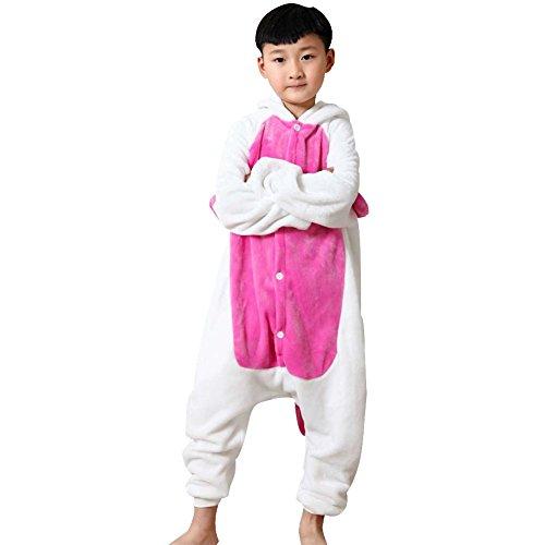Nightwear Pyjama (Amurleopard Kids Animal Pajamas One-Piece Cosplay Sleepwear Onesies Pajamas Nightwear Pink Unicorn L)