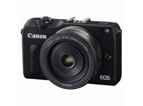 Canon EOS M2 Mark II 18.0 MP Digital Camera with EF-M 22MM f/2 STM Lens (Black) - International Version (No Warranty)