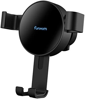 Funxim Gravity Fast Wireless Car Charger X7, Air Vent Car Mount Holder Fast Charge Qi Standard for iPhone XR XS Max