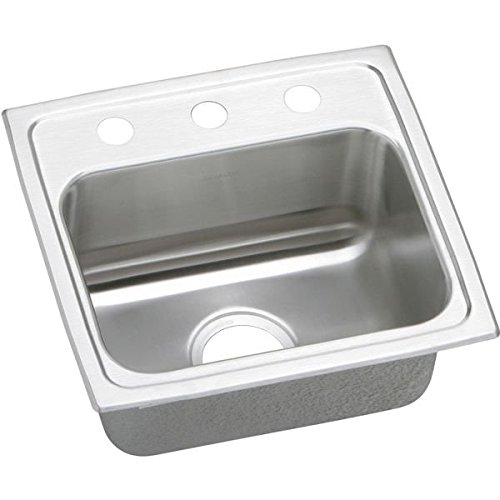 Elkay PSR17161 1-Hole Gourmet 16-Inch x 17-Inch Single Basin Drop-Inch Stainless Steel Kitchen Sink - Pacemaker Commercial Sink