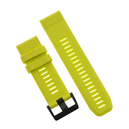 Garmin QuickFit 26 Watch Band Amp Yellow Silicone, One - Charlie Band