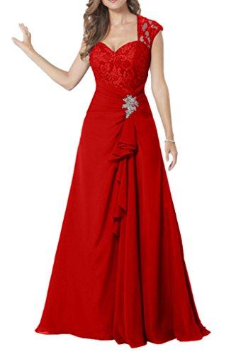 Missdressy - Vestido - plisado - para mujer Rojo