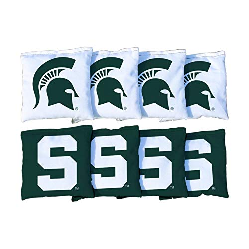 Victory Tailgate NCAA Collegiate Regulation Cornhole Game Bag Set (8 Bags Included, Corn-Filled) - Michigan State Spartans