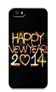 2114 Happy New Year Light Painting Bokeh Polycarbonate Hard 3D Case Cover for iPhone 5 and iPhone 5S