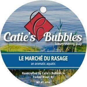Catie's Bubbles Shaving Soap, Le Marche du Rasage, 4oz. Catie' s Bubbles