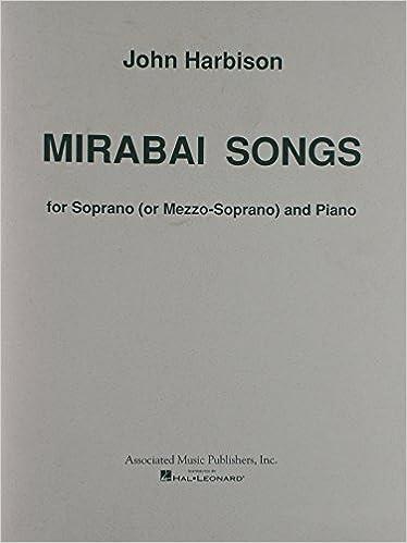mirabai songs for soprano or mezzo soprano and piano