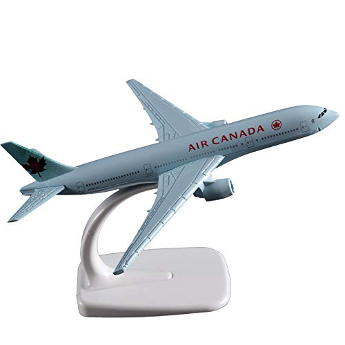 Marrsto 16Cm Boeing 777 Air Canada Airplane Model Alloy Static Aircraft Model Canadian Boeing 777 Airways Gift Souvenir Model Collection (Playsets Canada)