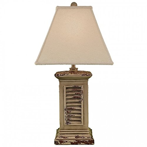 Coast Lamp Manufacturer 14-B11A 30 in. Aged Cottage Square Shutter Table Lamp from Coast Lamp Manufacturer