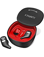 Bluetooth Earbuds, Xunpuls Bluetooth 5.0 Wireless Earbuds TWS Mini Wireless Earphones with Charging Case 20H Play Time Stereo Sound Built-in Mic True Wireless Earbuds for Workout, Running, Sport, Gym