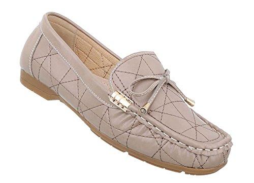 Schuhcity24 Damen Schuhe Mokassins Halbschuhe Modell Nr 1 Beige