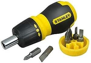 STANLEY 0-66-358 - Destornillador con carraca y 6 Puntas