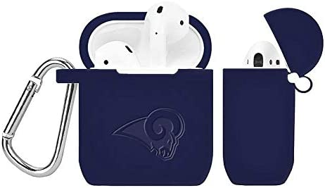 GAME TIME Los Angeles Rams Debossed Silicone Case Cover for APPL AirPod Battery Case Navy