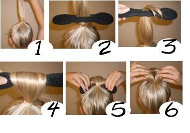 Lot de 3  Accessoire pour Cheveux Spécial Chignon Facile , Bandeau avec fente Amazon.fr Cuisine  Maison