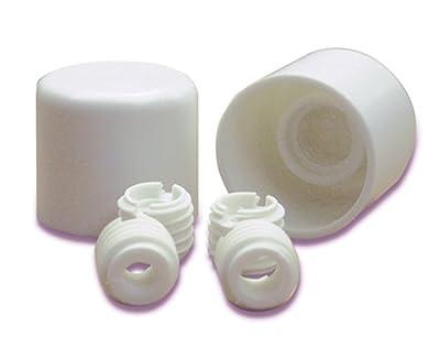 Danco 88877 Universal Twister Toilet Caps, Plastic, White