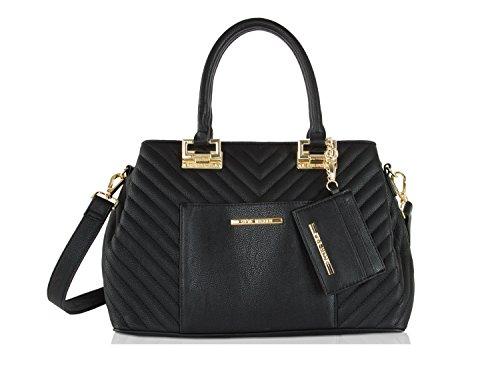 Steve Madden Belisa 2 Triple Entry Tote Handbag - Black (Steve Madden Woman Bags)