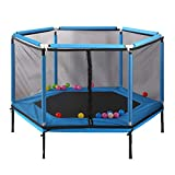 XinYing-BBC Trampoline with Safety Net Enclosure -for Kids Birthday Gifts Toy- Heavy Grade - 350 lbs Jumping Capacity on Frame & Springs