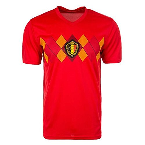 (Sykdybz 2018 Football Uniform Belgium Fans Souvenir Adult Children'S Youth Jersey Suit Training Team Uniform, M)