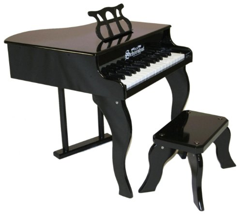Schoenhut 30-Key Fancy Baby Grand with Bench,Black by Schoenhut (Image #3)