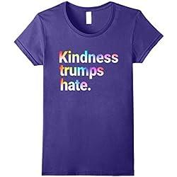 Womens Kindness Trumps Hate Anti-hate Love T Shirt Large Purple