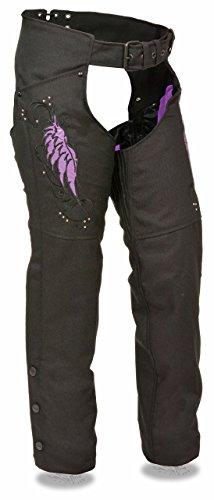 Milwaukee Leather Women's Textile Chap w/ Wing & Rivet Detailing (XL)