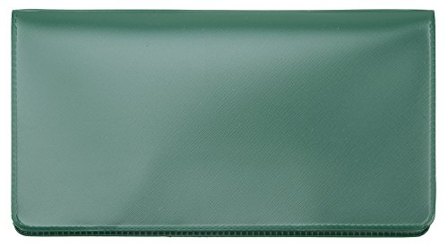 Forest Green Vinyl Checkbook Cover