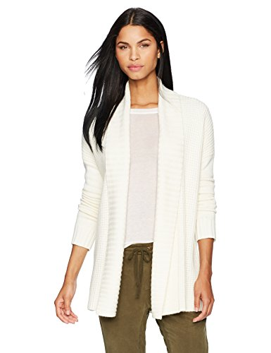 Designer Cardigan Sweater (Three Dots Women's Knit Loose Long Cardigan, Cream, Small)