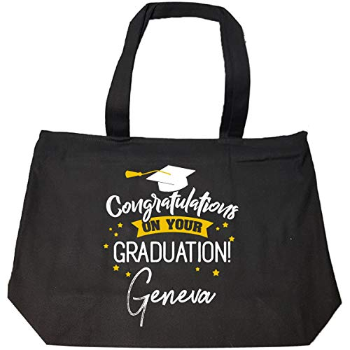 Personalized Graduation Gift Geneva Girl Women Name - Tote Bag With ()