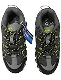 Boys Hiking Lace Up Sneakers (Grey/Yellow)