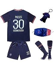 LULIDI Youth Sportswear Paris Lionel Messi #30 Home Soccer Teams Home Kids Soccer Jersey/Shorts/Socks Set