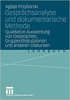 Book Gesprächsanalyse und dokumentarische Methode: