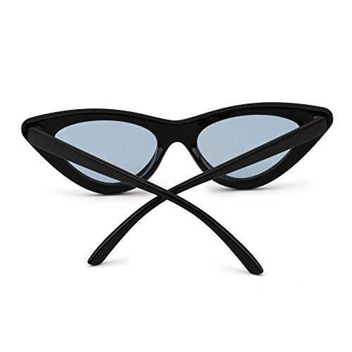 Negro Ojos Azul Teñido Gato Clout Gafas Lindos Retro Mujer de Lentes Anteojos Sol Plásticos de Goggles wPaaq6ZtAp