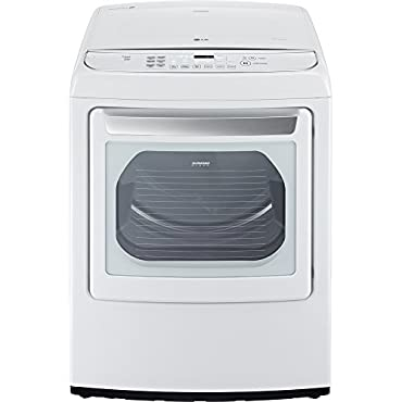 LG DLEY1701W SteamDryer 7.3 Cu. Ft. White With Steam Cycle Electric Dryer