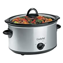 Crock-Pot 4 Qt Stainless Steel Oval Slow Cooker