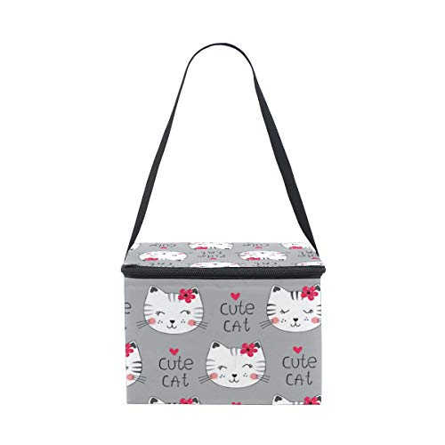 Cat Mom Dish Meal package thermal bags Outdoor Picnic Meal -