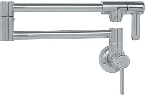 Franke PF3280 Logik Two Handle Wall Mounted Pot Filler, Satin Nickel
