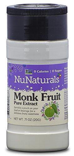 NuNaturals LoSweet Lo Han Guo (Monk Fruit) Extract Powder Zero-Calorie Sugar Substitute .71 Ounce