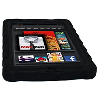 Gumdrop Cases Drop Tech Series Protective Case Cover for Kindle Fire, Black - With Screen Protection (does not fit Kindle Fire HD)