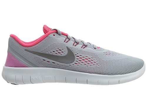 Nike Free Rn (Gs), Zapatillas de Running para Mujer Gris (Wolf Grey / Metallic Silver-White-Black)
