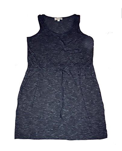Olive & Oak Drawstring Jersey Dress (Grey Space Dye, Medium) (Olive Drawstring)