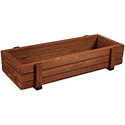 Wood Flower Pot,Plant Container Box Indoor/Outdoor Wooden Herb Flower Succulent Planter Box Home Garden Rectangle Storage box