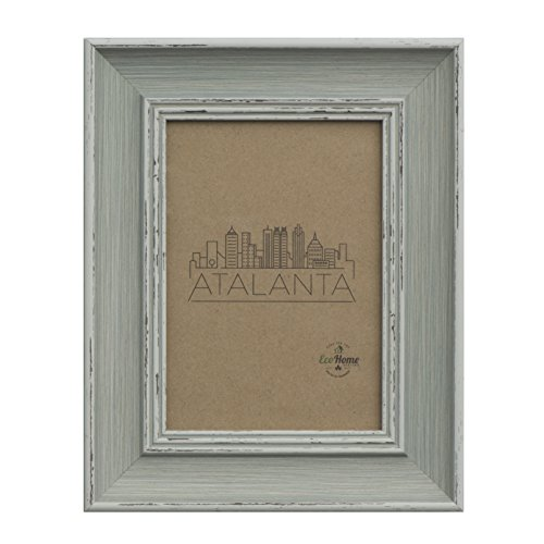 Eco-home 8x10 Picture Frame Distressed Blue - Mount Desktop Display, Frames by ()