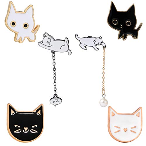 KimYoung Cute Enamel Lapel Pin Sets Carton Animal Brooch Pin (Cat Pin) ()