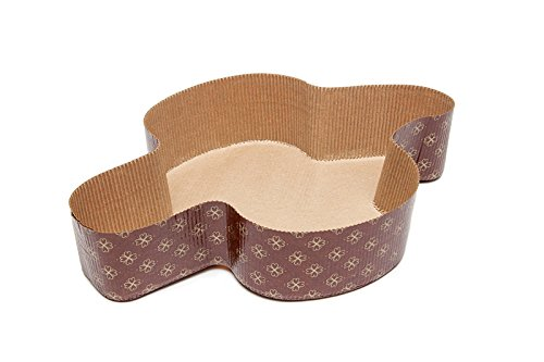 Ecobake Specialty Paper Baking Molds. Dove Colomba Paper Baking Mold Perfect for Sweet Italian Bread, Lemon Cake, Fruit Cake, Strawberry Cake Size L12-1/2 x 10 W x 2-1/2 H Model 510009 (10) by Ecobake (Image #3)