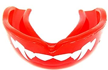 MOUTH Guard Dracula- Vampire Fangs Fang RED Sensei J