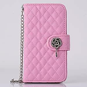 ZL Diamond Flowers Can Insert Card PU Leather Cases with Stand for iPhone 6 Case 4.7 inch(Assorted Colors) , Rose